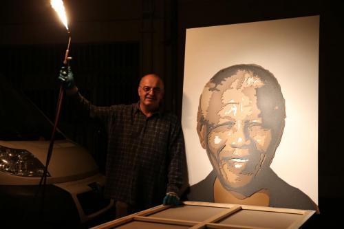 Richard Brouard et son oeuvre Nelson Mandela